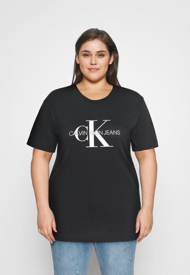 MONOGRAM LOGO REG FIT TEE - T-shirts med print - black
