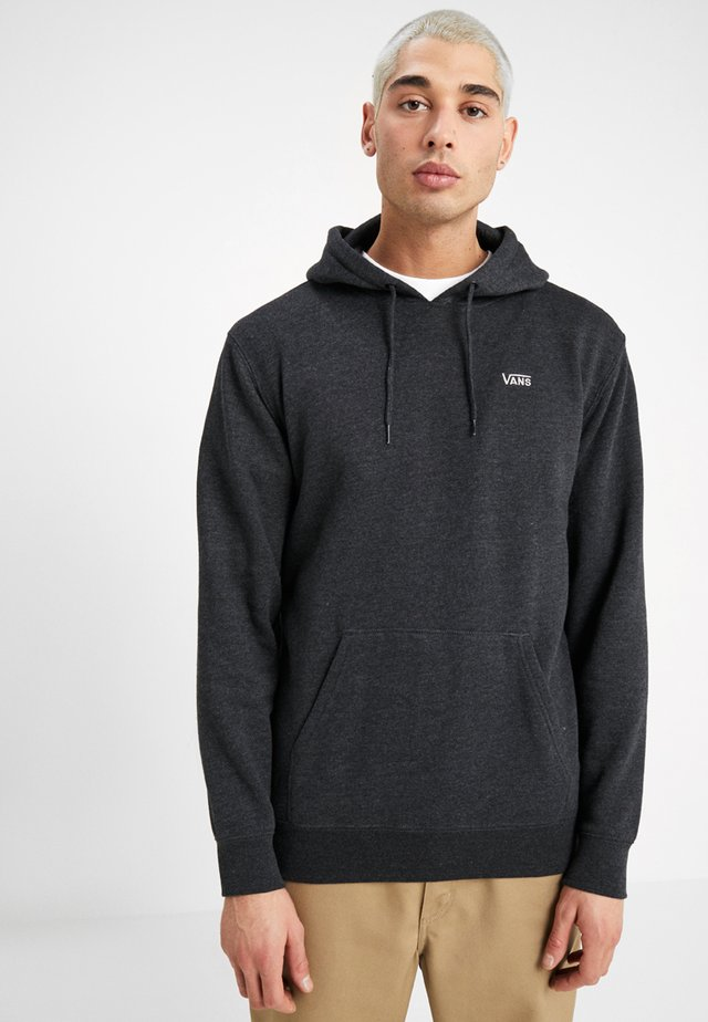 MN BASIC PULLOVER FLEECE - Hoodie - black heather