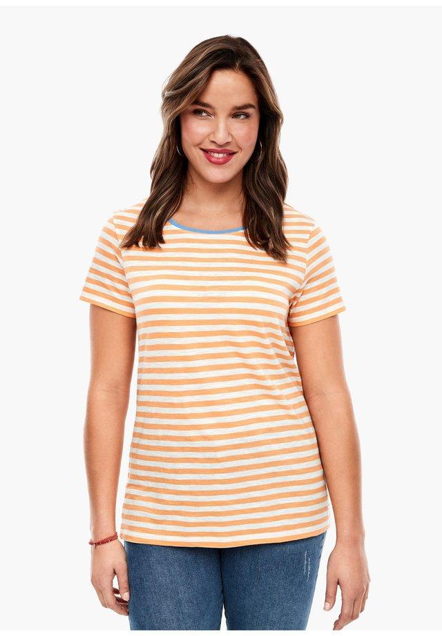 MIT RINGELN - Print T-shirt - orange stripes