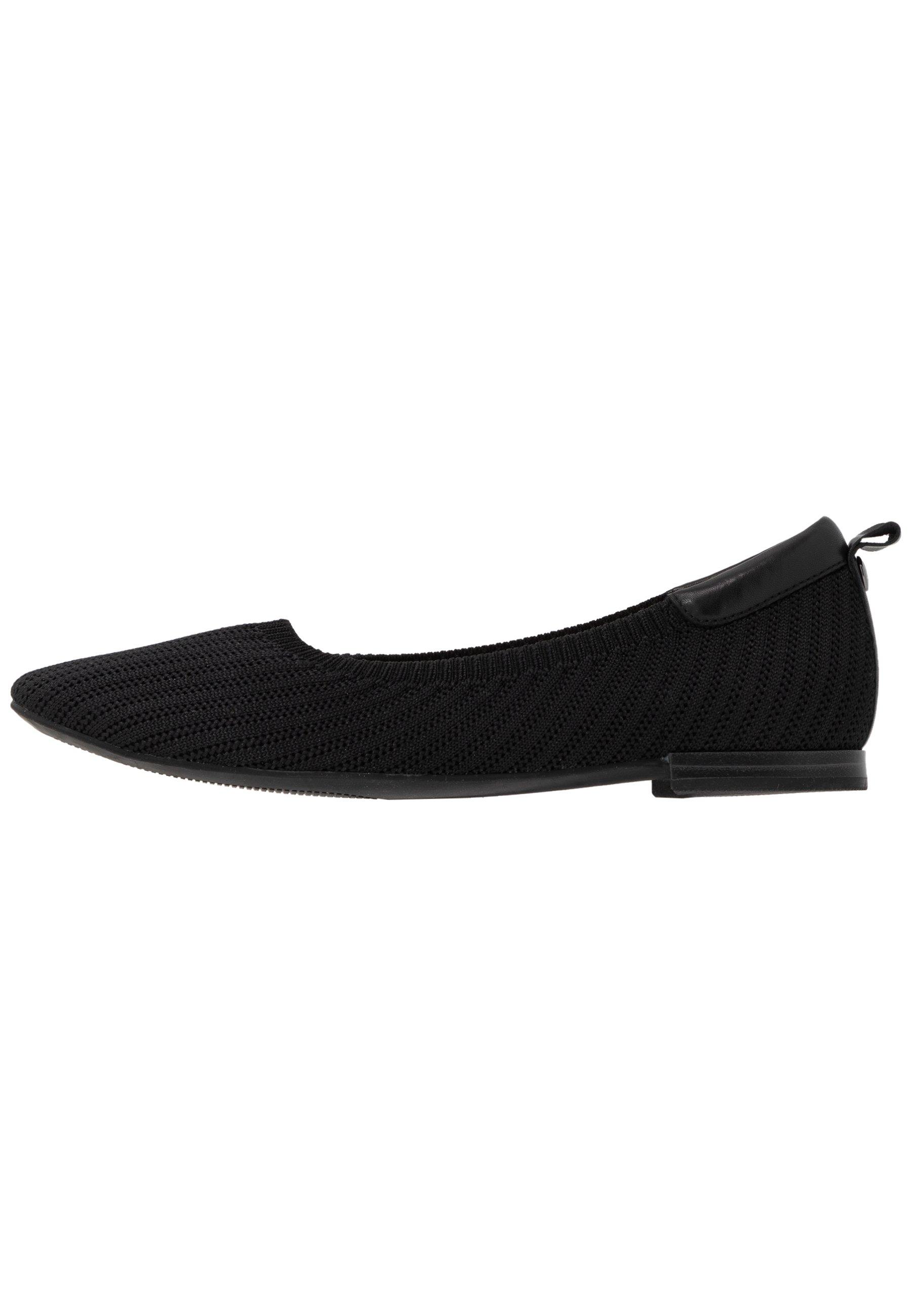 Caprice Ballerina - Black/svart