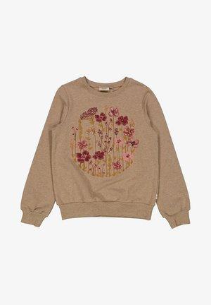 FLOWER CIRCLE  - Sweatshirt - khaki melange