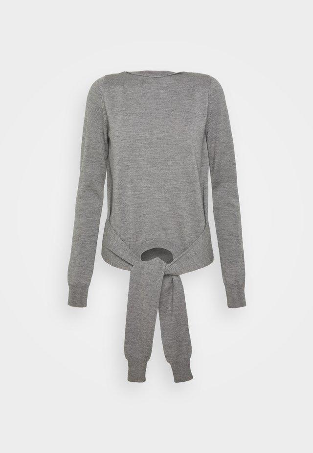 Strikpullover /Striktrøjer - melange grey