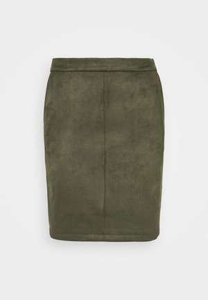 VIFADDY SKIRT - Pencil skirt - forest night