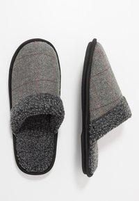 New Look - CHECK BORG COLLAR - Pantuflas - grey - 1