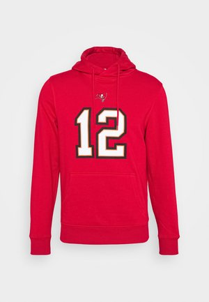 NFL TOM BRADY TAMPA BAY BUCCANEERS ICONIC NAME & NUMBER GRAPHIC  - Mikina skapucí - game red