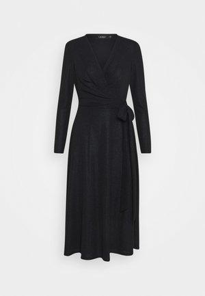 DERBY METALLIC DRESS - Stickad klänning - black
