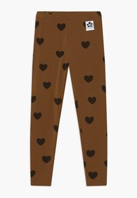 Mini Rodini - HEARTS - Leggings - Trousers - brown - 0