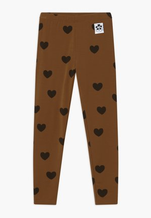 HEARTS - Legíny - brown