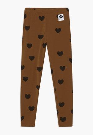 HEARTS - Legging - brown