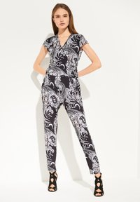 comma - PAISLEY - Jumpsuit - black aop - 0