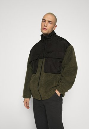 DOUBLE POCKET BORG ZIP THRU - Summer jacket - khaki