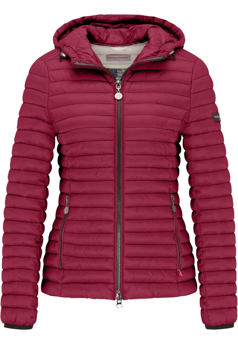 Frieda & Freddies - ALL-SEASON-STEPPJACKE FRIDAY V MIT TAILLIERTER PASSFORM - Down jacket - pink pepper