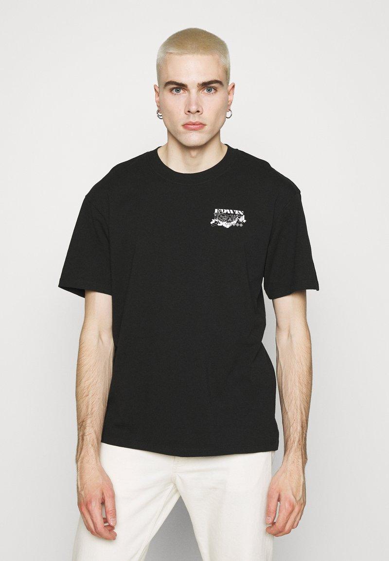 Edwin - LOGO MAP CHEST - Print T-shirt - black