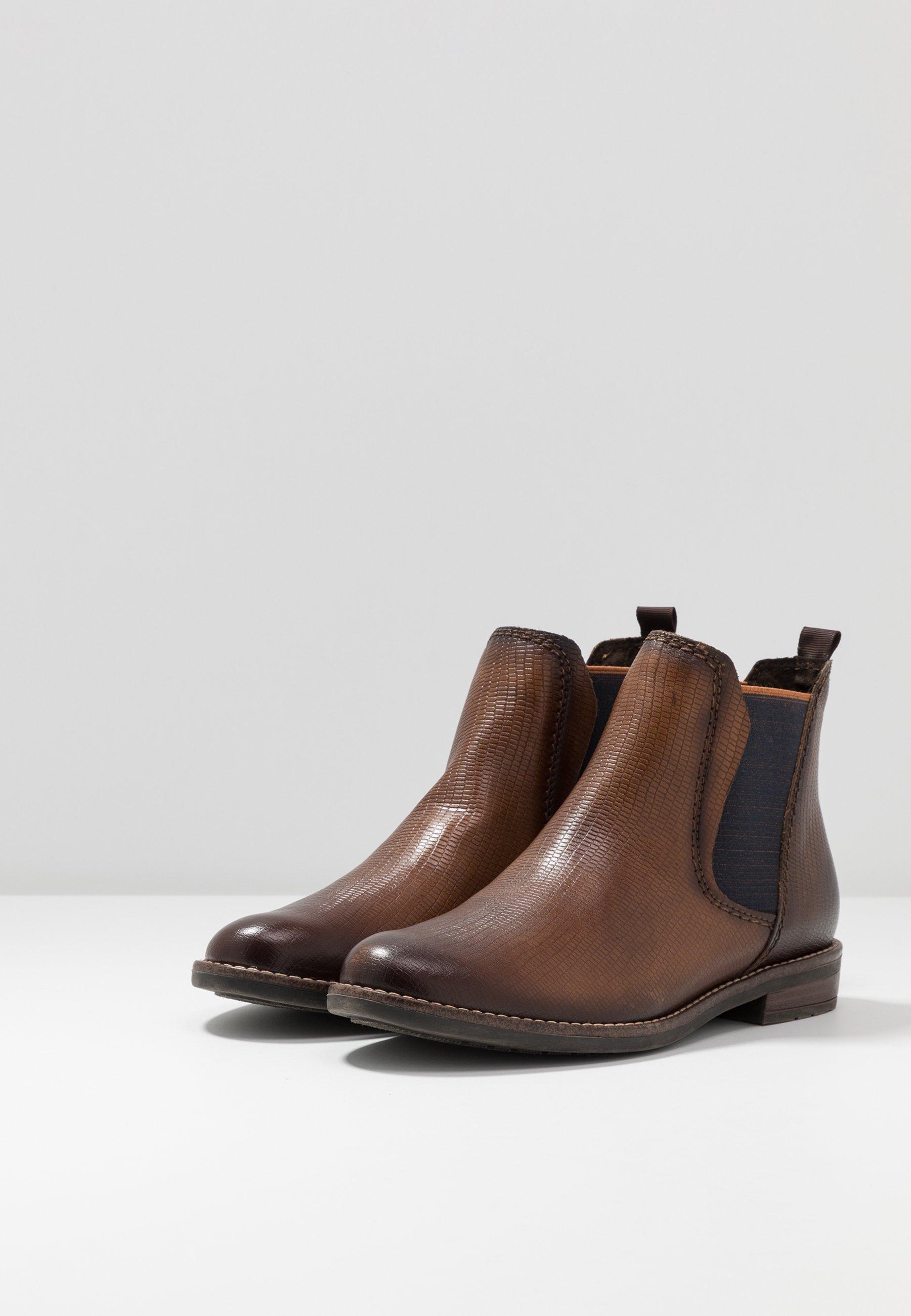 Marco Tozzi Ankle Boot cognac lizard/cognac