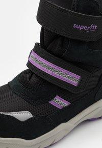 Superfit - CULUSUK 2.0 - Winter boots - schwarz/lila - 5