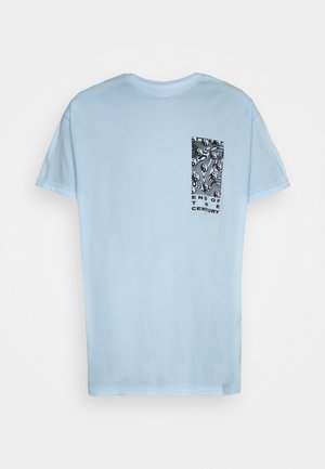 END OF THE CENTURY RAVE FRONT AND BACK GRAPHIC UNISEX - Triko spotiskem - baby blue