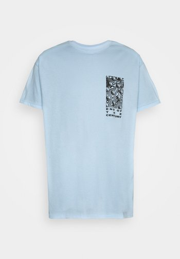 END OF THE CENTURY RAVE FRONT AND BACK GRAPHIC UNISEX - Print T-shirt - baby blue