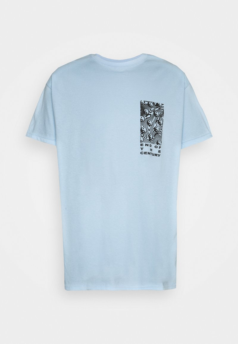 Vintage Supply - END OF THE CENTURY RAVE FRONT AND BACK GRAPHIC UNISEX - Print T-shirt - baby blue