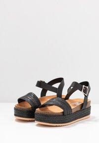 mtng - PERLA - Platform sandals - black - 4