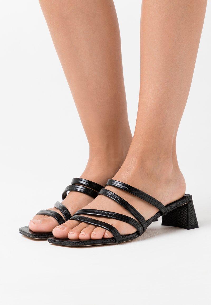 Topshop - DIXIE MULE - Pantofle na podpatku - black