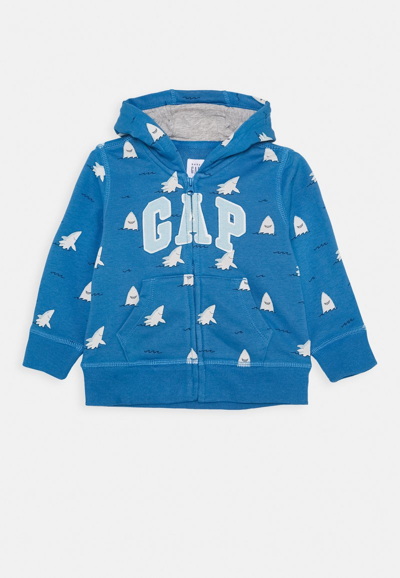 GAP - LOGO - Mikina na zip - breezy blue