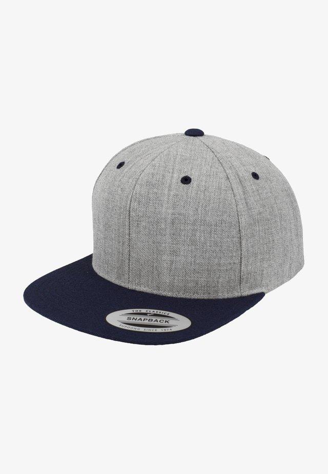 CLASSIC SNAPBACK 2-TONE - Lippalakki - light grey/dark blue