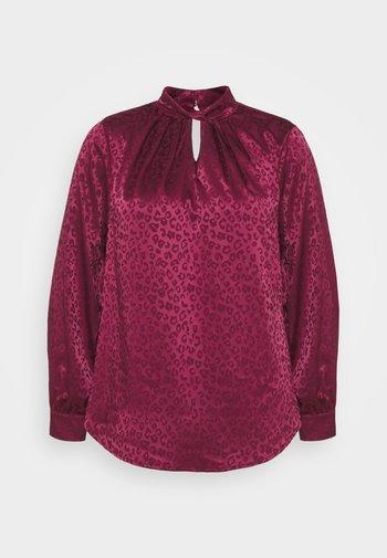 TWIST NECK - Blouse - dark burgundy