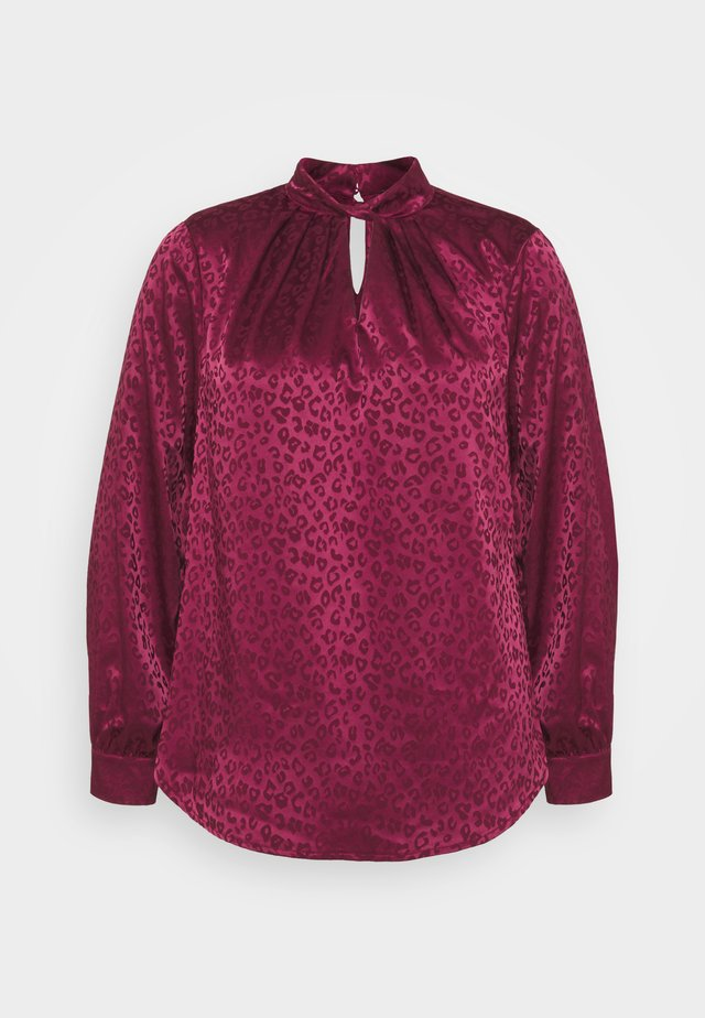 TWIST NECK - Blouse - dark burgundy