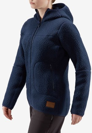 PILE HOOD WOMEN - Fleece jacket - blue