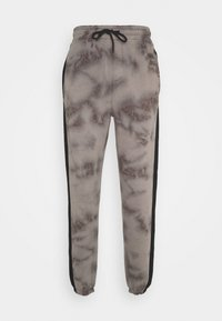Urban Threads - TIE DYE JOGGERS WITH SIDE PANEL - Tracksuit bottoms - grey - 0