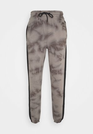 TIE DYE JOGGERS WITH SIDE PANEL - Träningsbyxor - grey