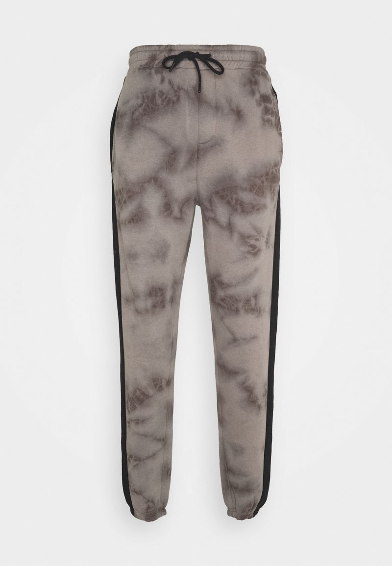 Urban Threads - TIE DYE JOGGERS WITH SIDE PANEL - Tracksuit bottoms - grey