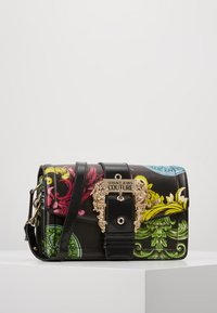 Versace Jeans Couture - LOGATA BUCKLE - Across body bag - black - 0