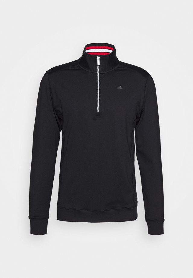 ORBIT HALF ZIP - Longsleeve - black/red