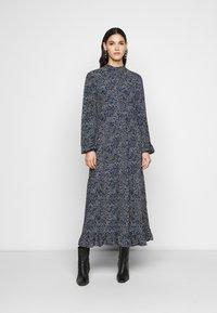 YAS Tall - YASSOFFI LONG DRESS - Kjole - twilight blue - 0
