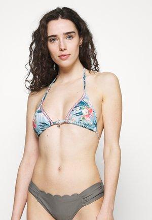 YERO MISSIOU - Bikini top - bleu