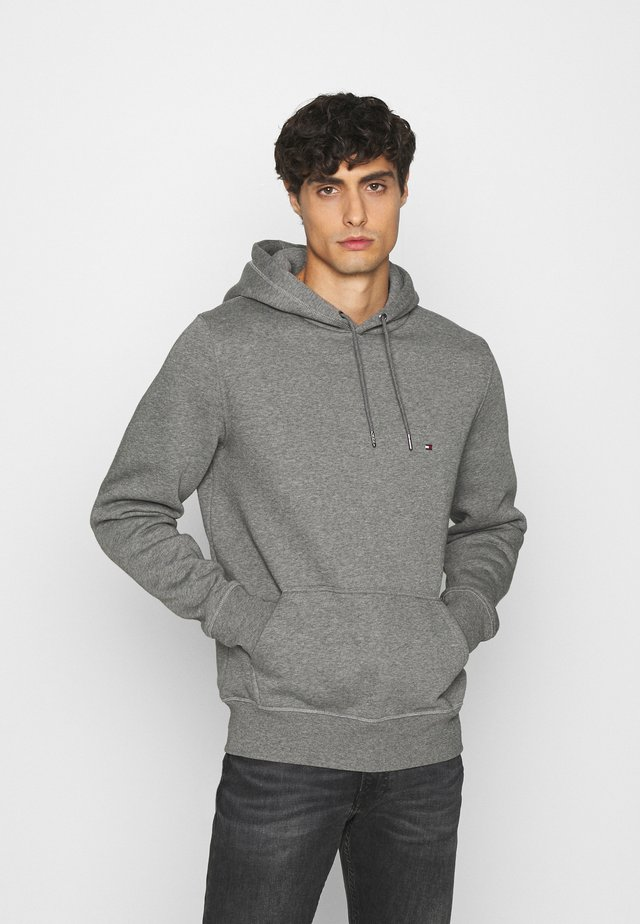 BASIC FLAG HOODY - Sweat à capuche - grey