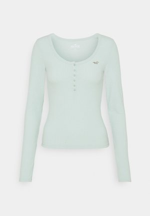 ICON HENLEY - Long sleeved top - light green/mint