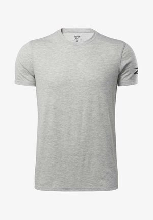WORKOUT READY TRAINING SHORT SLEEVE - Print T-shirt - grey
