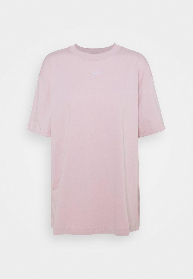 Print T-shirt - champagne/white