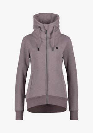 VIVIANAK  - Zip-up sweatshirt - mottled bordeaux
