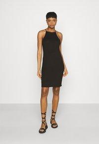 Vila - VIBE SINGLET DRESS 2 PACK - Jersey dress - black/black - 3