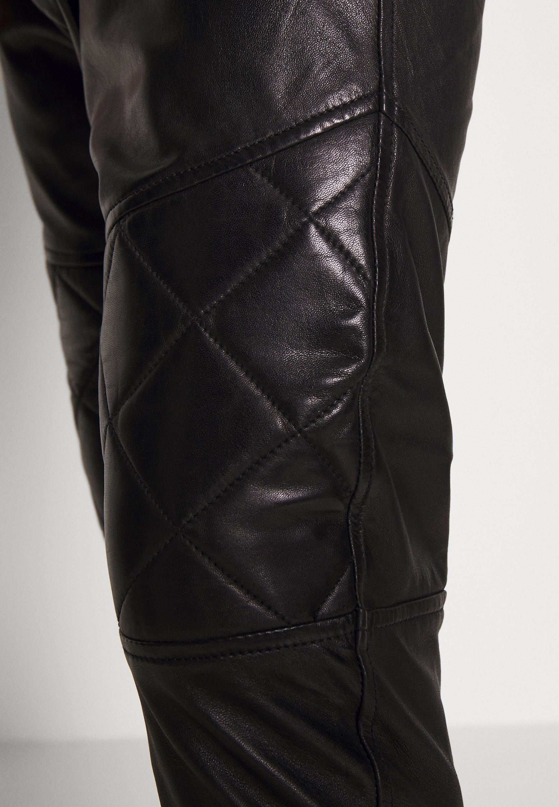 Ostaa Miesten vaatteet Sarja dfKJIUp97454sfGHYHD Tigha ELRIC Nahkahousut black