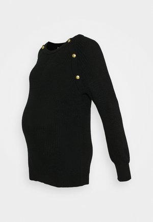 ROMAIN - Strickpullover - black