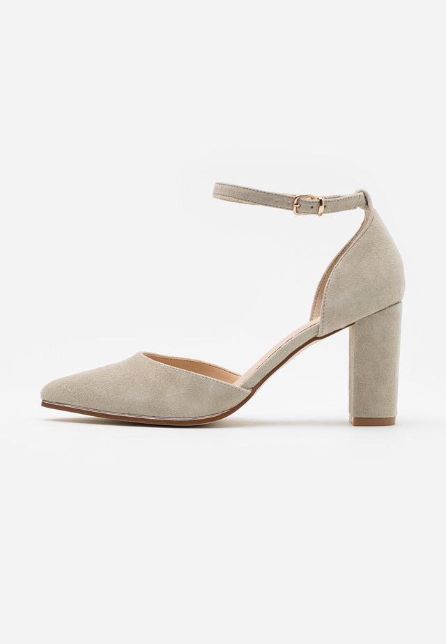 LEATHER - Classic heels - grey