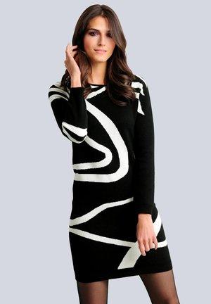 Jumper dress - schwarz off-white