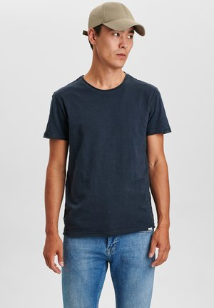 KONRAD SLUB S/S TEE - Basic T-shirt - navy