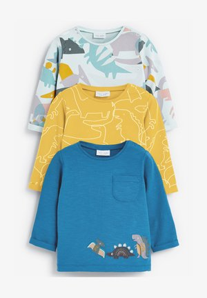 3 PACK DINOSAUR - Print T-shirt - yellow
