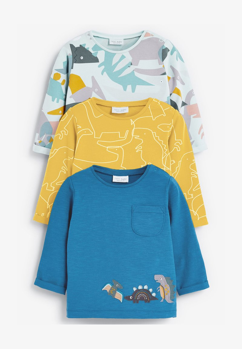 Next - 3 PACK DINOSAUR - Print T-shirt - yellow