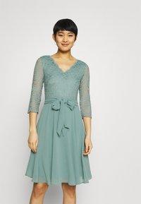 Esprit Collection - PER DRESS - Cocktail dress / Party dress - dark turquoise - 0